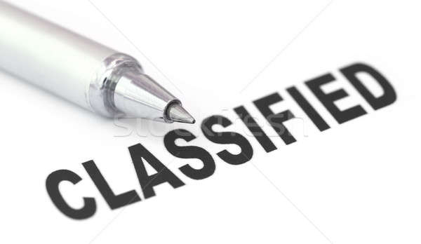Classified printed in a white paper Stock photo © bdspn
