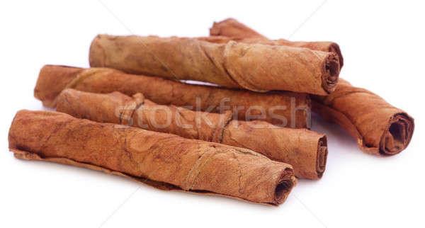Drogen tabak bladeren sigaret witte Stockfoto © bdspn