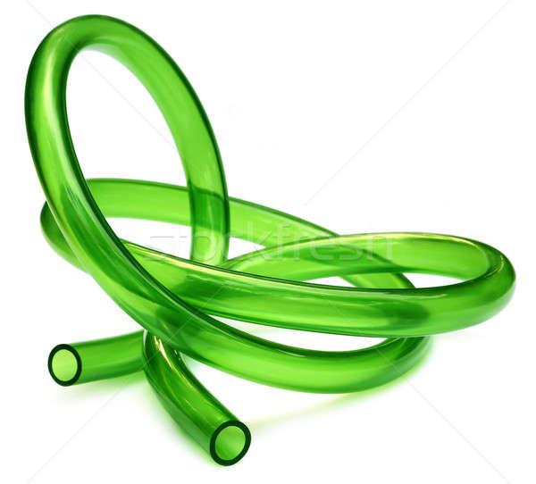 Vert tubes isolé blanche propre outil Photo stock © bdspn