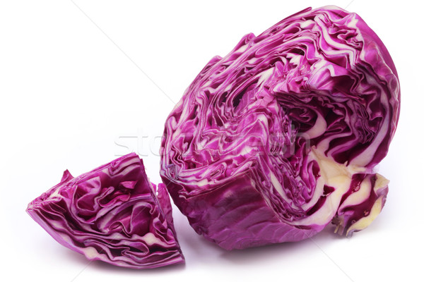 Closeup of sliced red cabbage Stock photo © bdspn