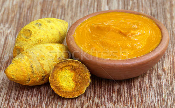 Dried turmeric with paste Stock photo © bdspn