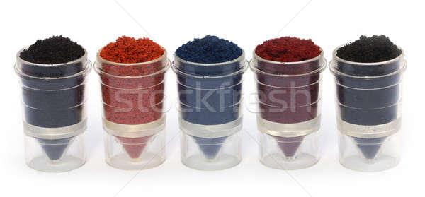 Textile color powder Stock photo © bdspn