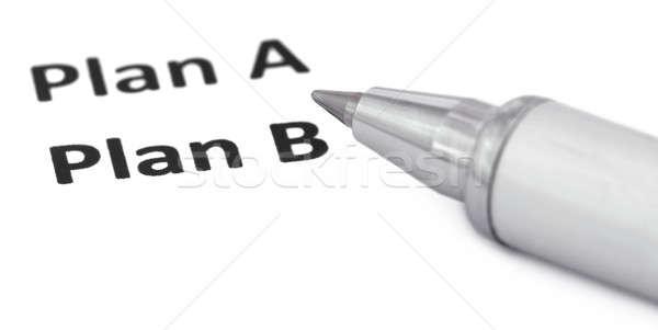 Plan b yazılı beyaz kâğıt iş arka plan Stok fotoğraf © bdspn