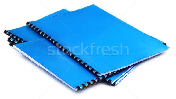 Blue Spiral bound note books Stock photo © bdspn