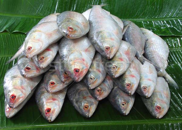 Pesce banana foglie alimentare foglia Foto d'archivio © bdspn