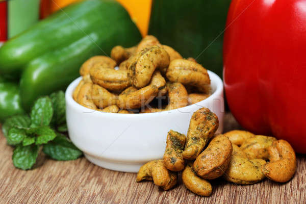 Cashew nuts with vegetables Stock photo © bdspn