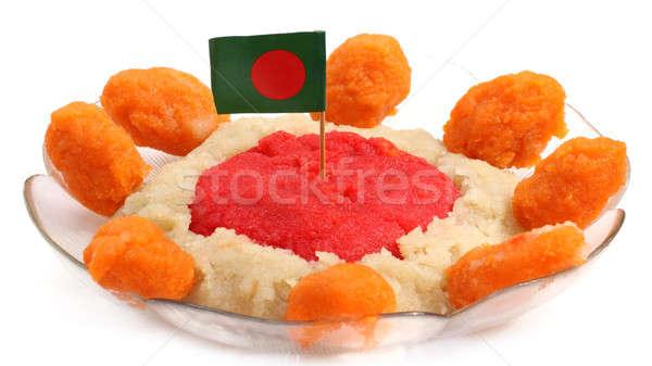 Cucina bandiera ciotola salute rosso piatto Foto d'archivio © bdspn