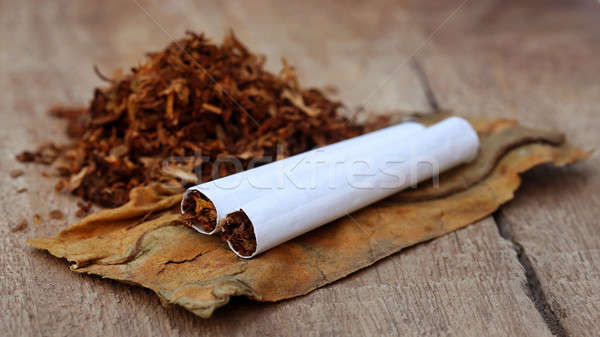 Tobacco and cigarette Stock photo © bdspn