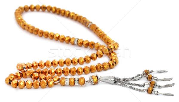 Rosenkranz weiß Gottesdienst Kette Gebet Religion Stock foto © bdspn