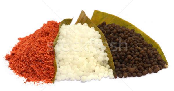 Kimyasal gübre beyaz gıda model toprak Stok fotoğraf © bdspn