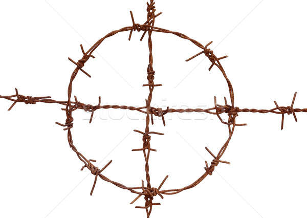Rusty barbed wire Stock photo © bdspn