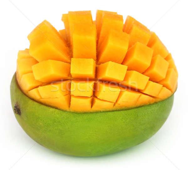Lédús mangó fehér narancs ital trópusi Stock fotó © bdspn
