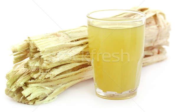 Sugarcane juice with bagasse Stock photo © bdspn