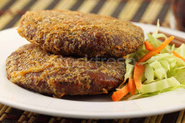 Cooked patties for Hamburger Stock photo © bdspn