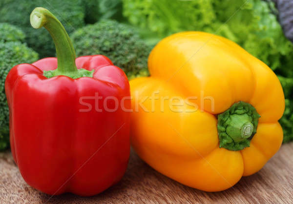 Capsicum with other vegetables Stock photo © bdspn