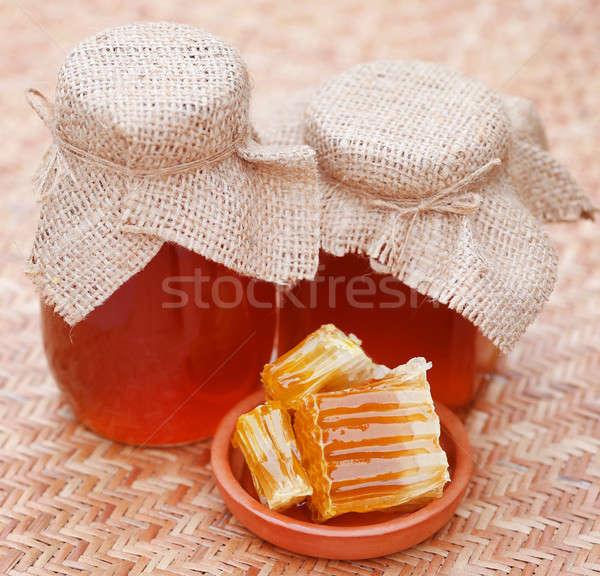 Bal cam kavanoz arı kovan Stok fotoğraf © bdspn