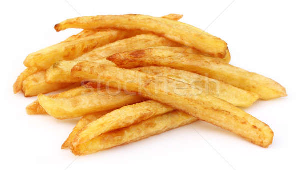 French fry over white background Stock photo © bdspn