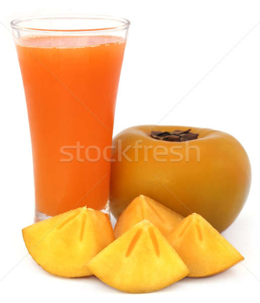 Persimmon juice with fresh fruits Stock photo © bdspn