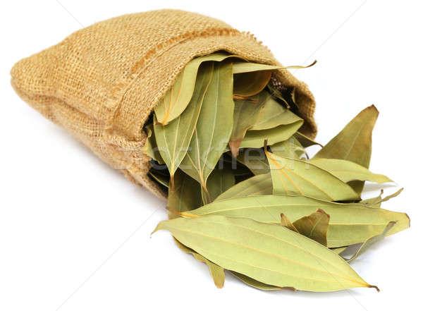 Cassia leaves in sack Stock photo © bdspn