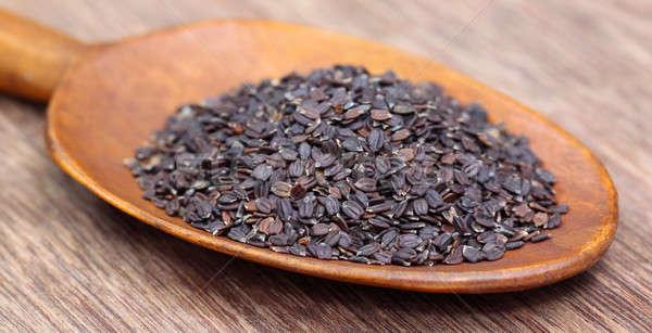 Stock photo: Medicinal basil seeds