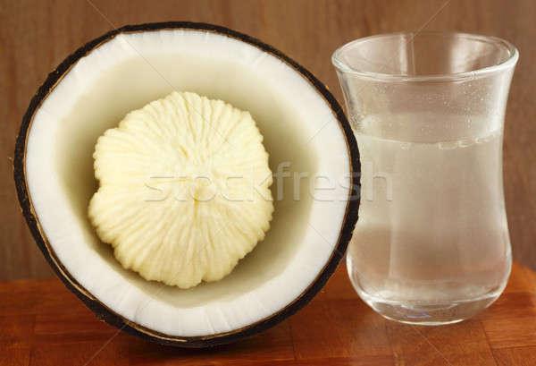 Coconut for oil preparing Stock photo © bdspn