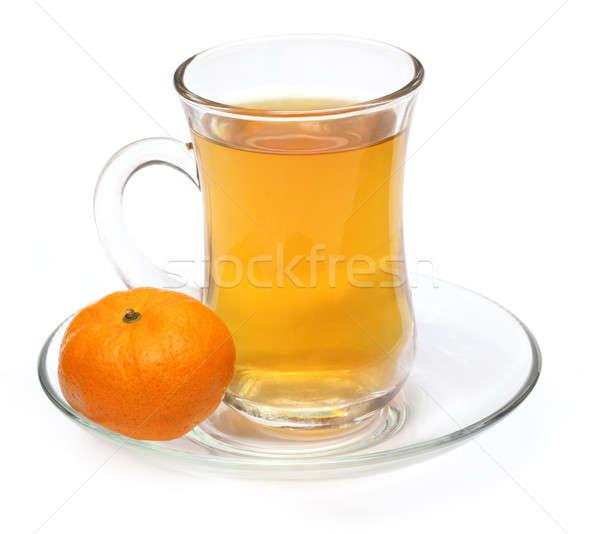 Cup of orange tea with orange  Stock photo © bdspn