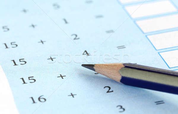 Preliminary mathematics Stock photo © bdspn