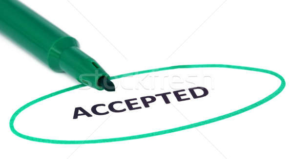 ACCEPTED written in a white paper Stock photo © bdspn