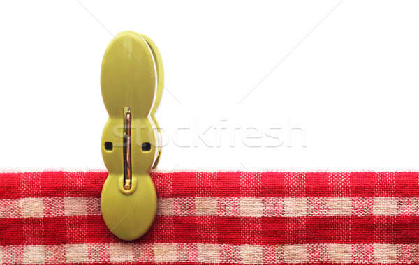 Clothespin in a red cotton cloth Stock photo © bdspn