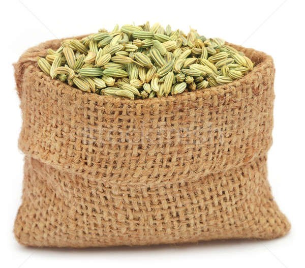 Stock photo: Fennel seeds over white background