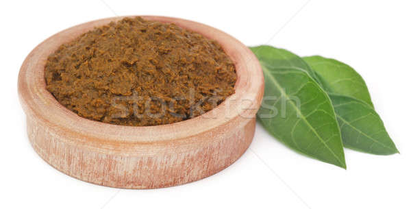 Ayurvedic henna leaves with paste Stock photo © bdspn