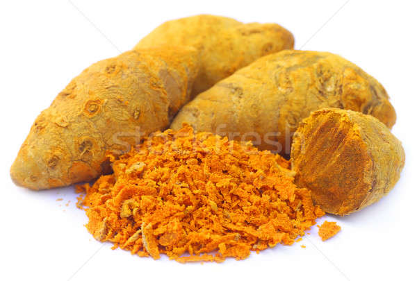 Whole and grated turmeric Stock photo © bdspn