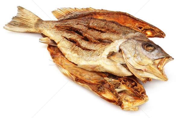 Suszy ryb azja południowo-wschodnia biały słońce rzeki Zdjęcia stock © bdspn