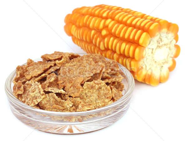 Vers cornflakes witte ontbijt studio Geel Stockfoto © bdspn