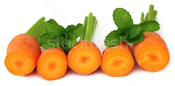 Carrots with mint leaves  Stock photo © bdspn