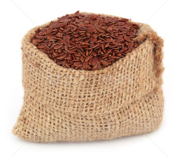 Flax seeds in jute bag Stock photo © bdspn