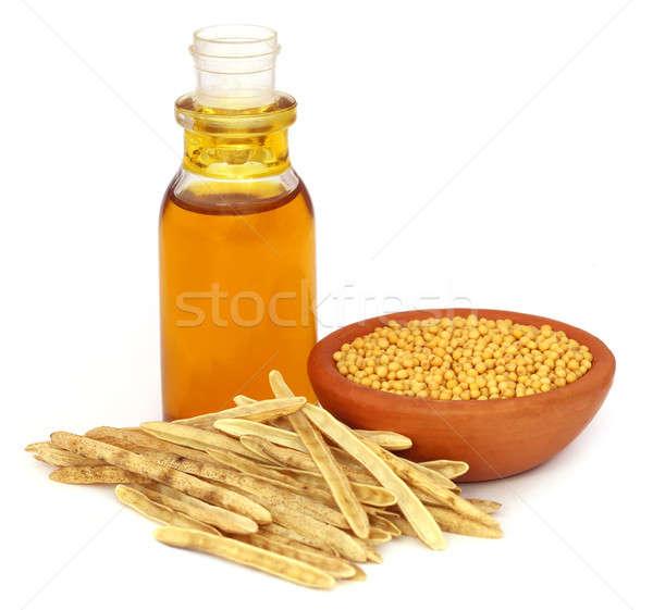 Arany mustár üres olaj fehér természet Stock fotó © bdspn