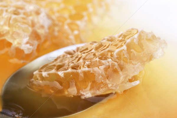 Mel pente colher fresco comida grupo Foto stock © bdspn