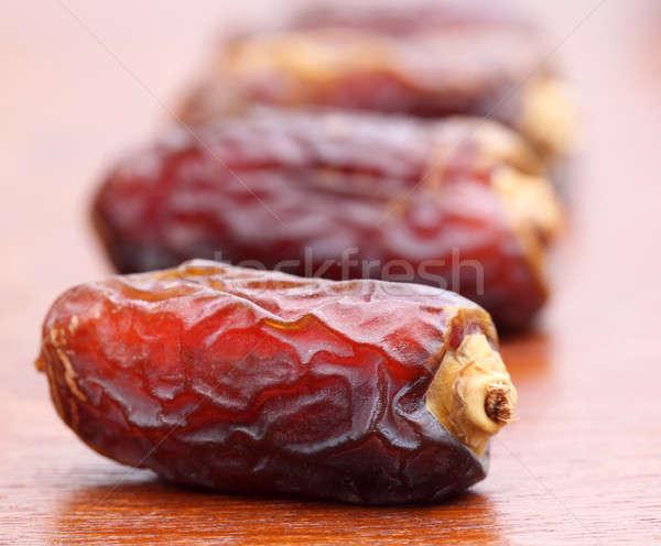 Makro świeże arabski daty powierzchnia Zdjęcia stock © bdspn