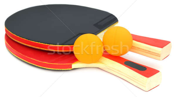 Table tennis bats and ball Stock photo © bdspn