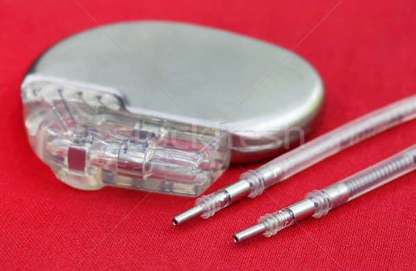 Pacemaker with Electrical Leads Stock photo © bdspn