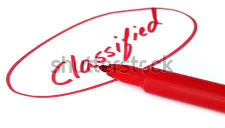 Classified written in red letters Stock photo © bdspn