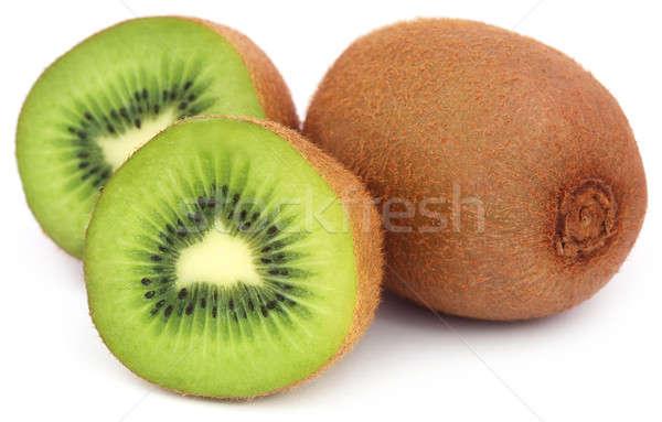 Kiwi vruchten witte vruchten achtergrond groene Stockfoto © bdspn
