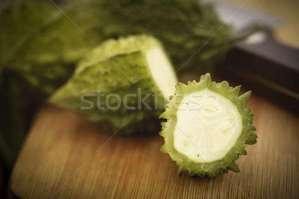 Sliced Green Momordica Stock photo © bdspn