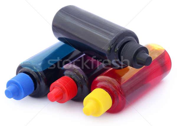 Printer ink bottles Stock photo © bdspn