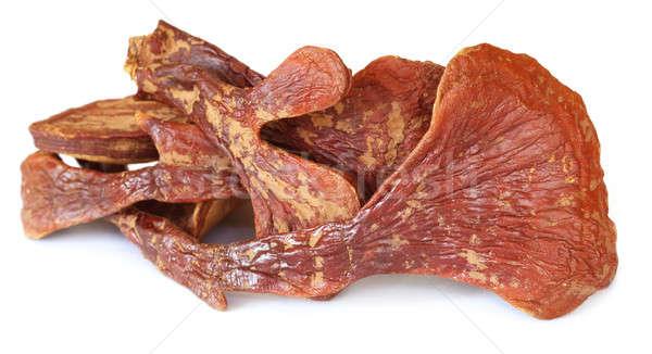 Foto stock: Cogumelo · branco · comida · fundo · medicina · vermelho