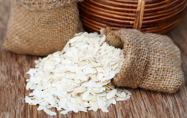 Flattened rice Stock photo © bdspn