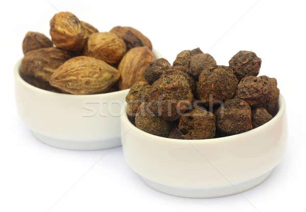 Ayurvedic fruits, Amla and Haritaki Stock photo © bdspn