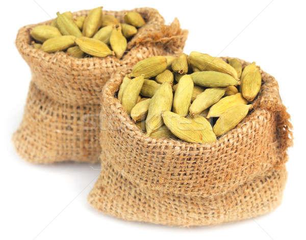 Cardamom seed in sack Stock photo © bdspn