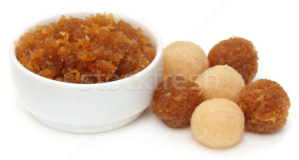 Traditional coconut laddu of Southeast Asia Stock photo © bdspn